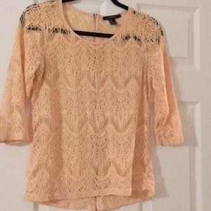 Lite pink see through blouse